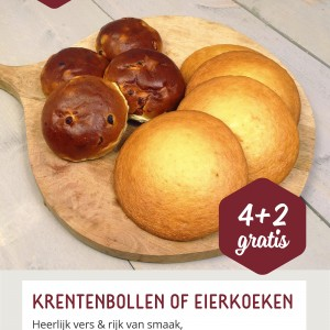 Weekaanbieding: Krentenbollen & Eierkoeken